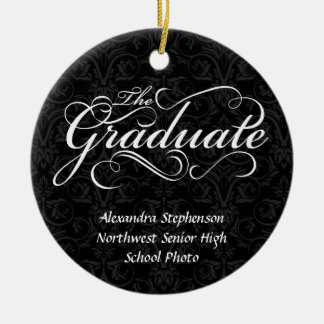 The Graduate, Elegant Black Christmas Ornaments