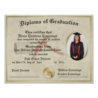 The Graduate Gift Diploma Poster