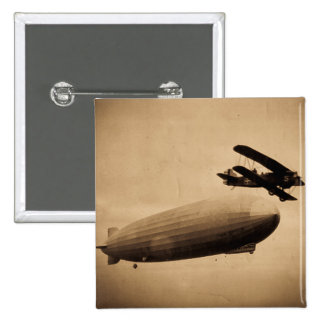 The Graf Zeppelin Approaching New York City 1928 Pin