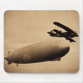 The Graf Zeppelin Approaching New York City 1928 Mouse Pad