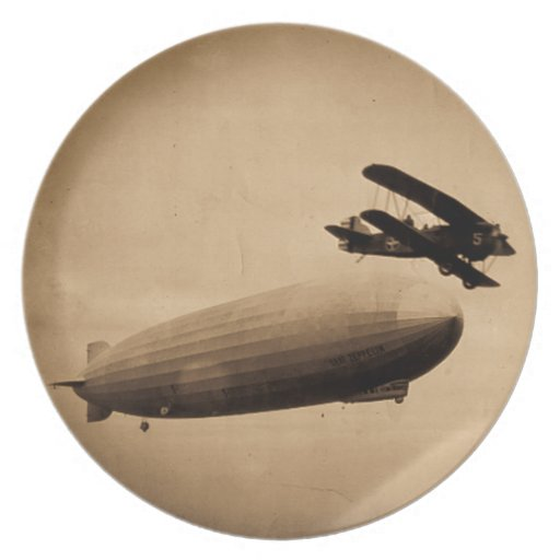 The Graf Zeppelin Approaching New York City 1928 Plate