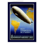 The Graf Zeppelin Line Vintage Travel Poster