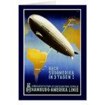 The Graf Zeppelin Line Vintage Travel Poster Card