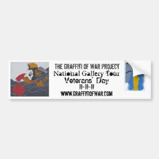 The Graffiti of War Project: National Gallery Tour Car Bumper Sticker
