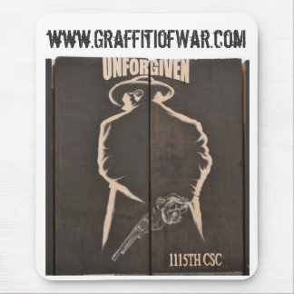 The Graffiti of War Project Series Unforgiven Mouse Pad
