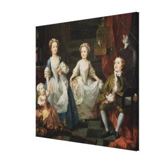 The Graham Children, 1742 Canvas Print