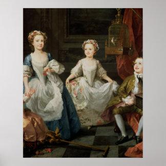 The Graham Children, 1742 Poster