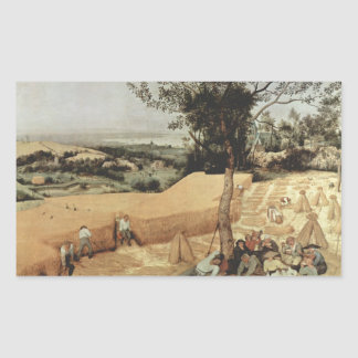 The grain harvest by Pieter Bruegel Rectangular Sticker