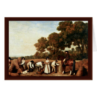 The Grain Harvest By Stubbs George Greeting Card