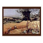 The Grain Harvest Month (August),  By Bruegel D. Postcard