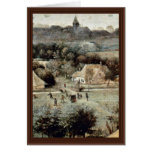 The Grain Harvest Month (August) Detail By Bruegel Greeting Card