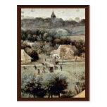 The Grain Harvest Month (August) Detail By Bruegel Postcard