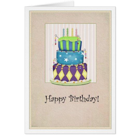 The Grand Cake Birthday Card