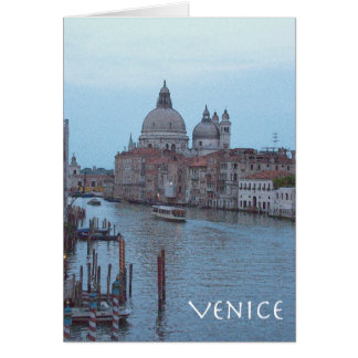 The Grand Canal at dusk Card