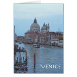 The Grand Canal at dusk Greeting Card