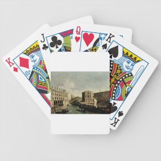 The Grand Canal at Rialto by Canaletto Bicycle Playing Cards