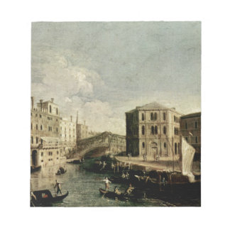The Grand Canal at Rialto by Canaletto Notepad