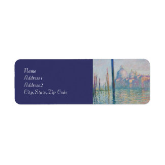 The Grand Canal by Monet Return Address Labels