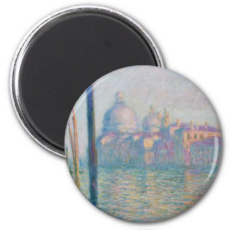 The Grand Canal by Monet 2 Inch Round Magnet