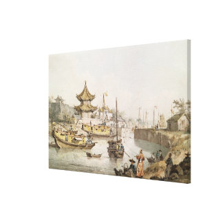 The Grand Canal, China, (w/c) Canvas Print