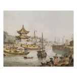 The Grand Canal, China, (w/c) Print