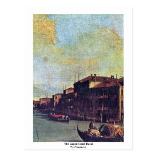 The Grand Canal Detail By Canaletto Post Card