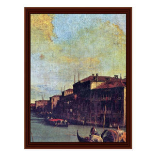 The Grand Canal Detail By Canaletto Post Cards