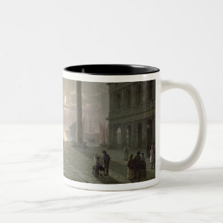 The Grand Canal From Piazza San Marco Two-Tone Coffee Mug