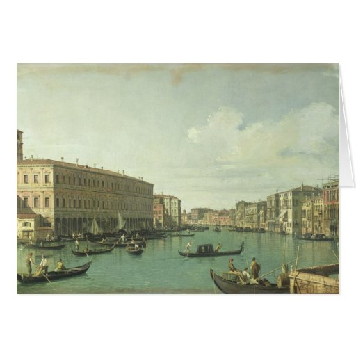 The Grand Canal from the Rialto Bridge Card