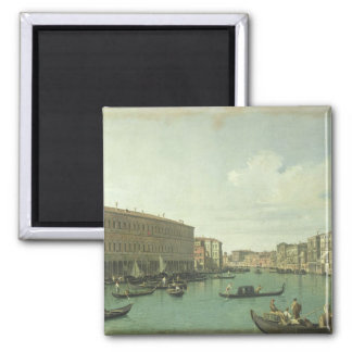 The Grand Canal from the Rialto Bridge 2 Inch Square Magnet