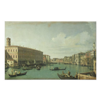 The Grand Canal from the Rialto Bridge Poster