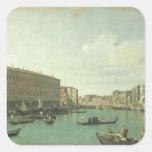 The Grand Canal from the Rialto Bridge Square Sticker