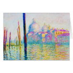 The Grand Canal in Venice Claude Monet Card
