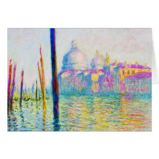 The Grand Canal in Venice Claude Monet Greeting Cards