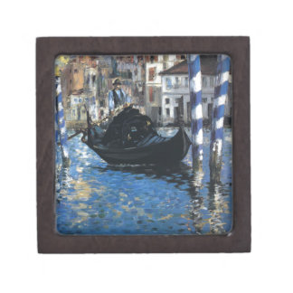 The grand canal of Venice (Blue Venice) by Edouard Jewelry Box