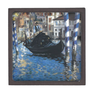 The grand canal of Venice by Edouard Manet Jewelry Box