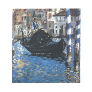 The grand canal of Venice by Edouard Manet Notepad