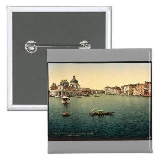 The Grand Canal, Santa Maria della Salute, Venice, Pinback Buttons