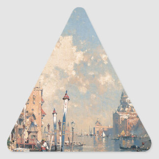 The Grand Canal, Venice by Franz Richard Triangle Sticker