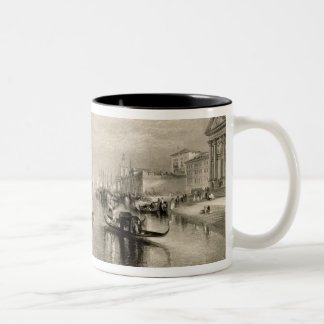 The Grand Canal, Venice, engraved by William Mille Two-Tone Coffee Mug