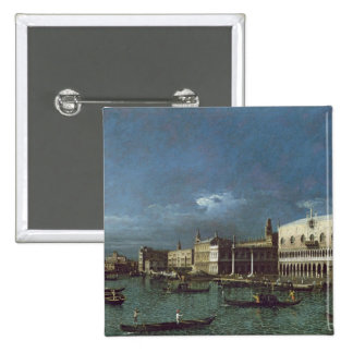 The Grand Canal with the Church of Santa Maria Pinback Button
