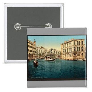 The Grand Canal with the Rialto Bridge, Venice, It Button