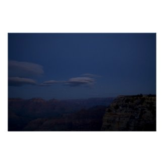 The Grand Canyon at Night Posters