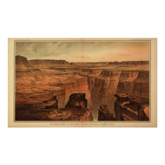 The Grand Canyon by Clarence Dutton 1882 Poster