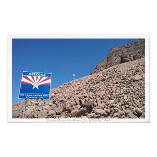 """The Grand Canyon State Welcomes You,"" Arizona Photo Print"