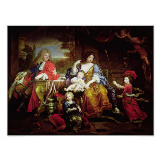 The Grand Dauphin with his Wife Print