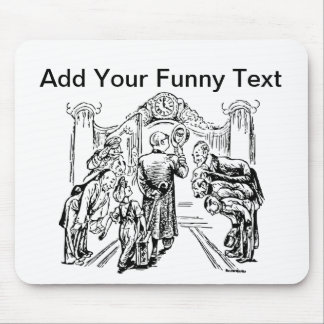 The Grand Entrance For People Who Arrive Late Mouse Pad