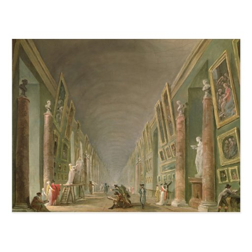 The Grand Gallery of the Louvre Postcard