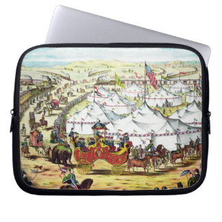 The Grand Lay-Out - Vintage Circus Art Laptop Case