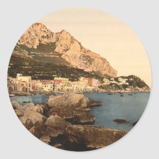 The Grand Marina, Capri Island Round Stickers